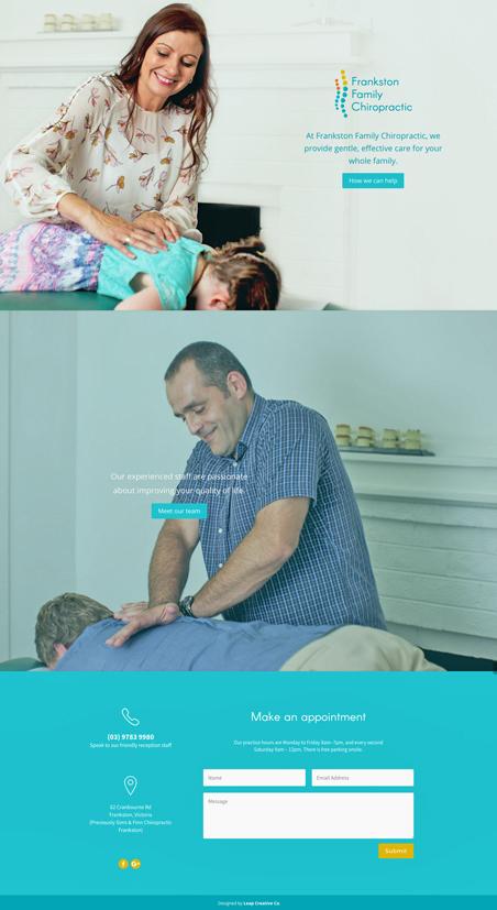 Frankston Family Chiropractic Website Design